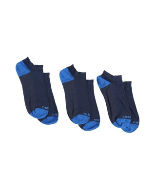 Diesel Blue Melange SKM-GOST Low Cut Small Socks- Pack Of 3