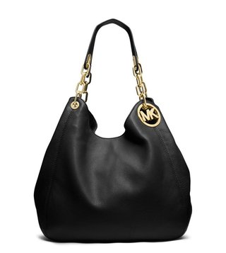 Michael Kors Fulton Black Large Shoulder Bag