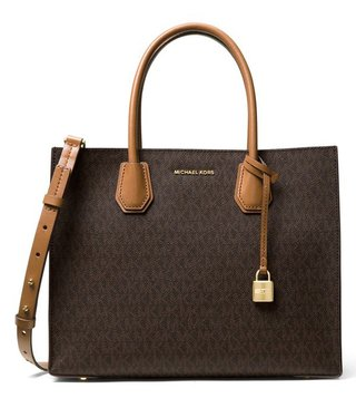 Michael Kors Brown Mercer Large Signature Tote