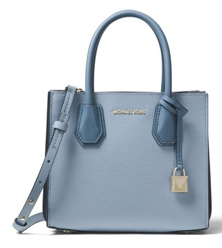 MICHAEL Michael Kors Pale Blue Mercer Cross Body Bag