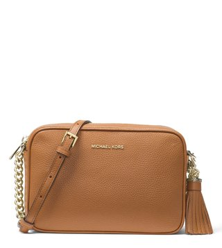 64e05c1da8fc ... sale michael michael kors acorn ginny cross body bag 9a12b e8c81