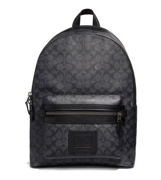 Coach Charcoal Signature Coated Canvas Academy Backpack