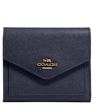 Coach Light Navy Crossgrain Leather Wallet
