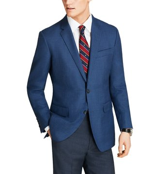 Brooks Brothers Blue Full Sleeves Sport Coat