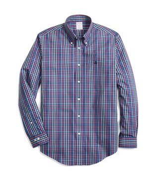 Brooks Brothers Navy Checks Sport Shirt