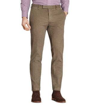 Brooks Brothers Taupe Garment Dyed Broken Twill Chinos