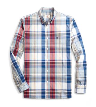 Brooks Brothers Red Fleece Multicolor Checks Sport Shirt