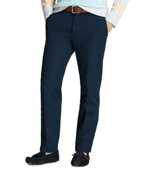 Brooks Brothers Navy Supima Piece Dyed Chinos