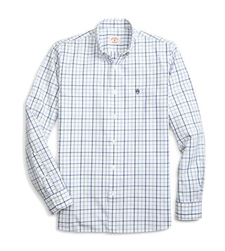 Brooks Brothers Red Fleece Open White Checks Sport Shirt
