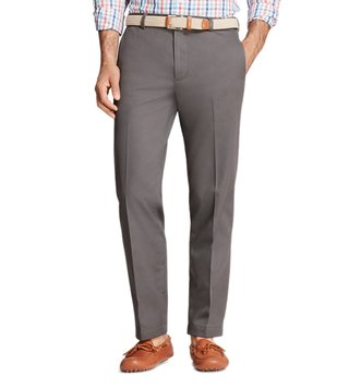 Brooks Brothers Grey Stretch New Marco Chinos