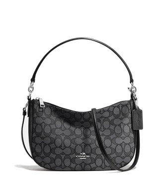 Coach Black Smoke Signature Chelsea Cross Body Bag