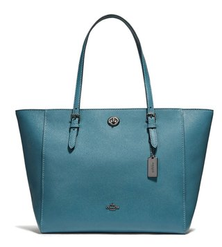 Coach Dark Chambray Functional Crossgrain Turnlock Tote