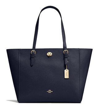 Coach Light Navy Functional Turnlock Tote