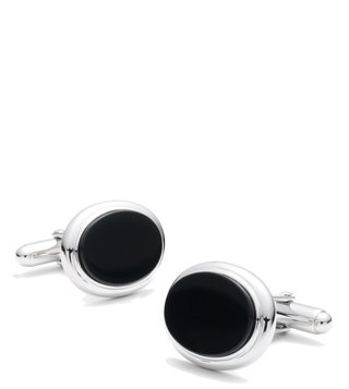 Brooks Brothers Black Oval Onyx Cufflinks