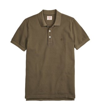 Brooks Brothers Red Fleece Dark Green Dyed Pique Polo T-Shirt