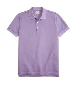 Brooks Brothers Red Fleece Purple Dyed Pique Polo T-Shirt