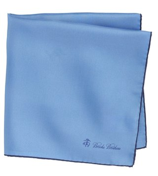 Brooks Brothers Light Pastel Blue Silk Pocket Square