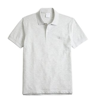 Brooks Brothers Grey Supima Slim Fit Polo T-Shirt