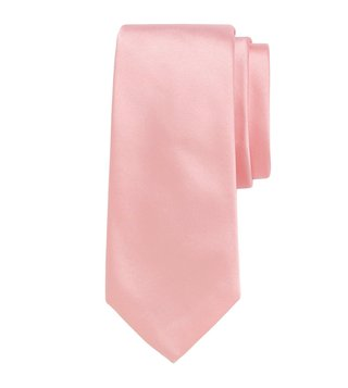 Brooks Brothers Light Pastel Pink Formal Satin Slim Tie