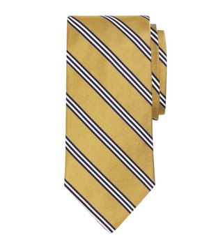 Brooks Brothers Gold Striped Mini BB1 Rep Tie