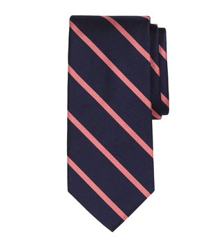 Brooks Brothers Navy & Pink Striped BB3 Rep Tie