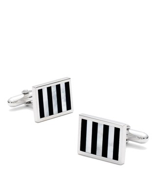 Brooks Brothers Black Onyx And Mother-Of-Pearl Cufflinks