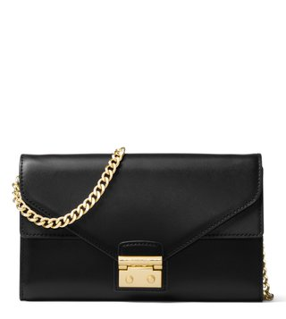 Michael Kors Black Sloan Leather Cross Body Bag