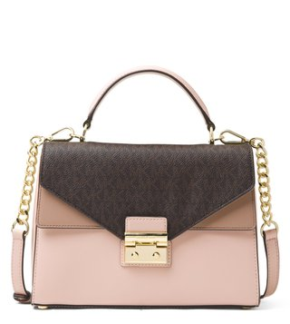 MICHAEL Michael Kors Brown, Soft Pink & Fawn Sloan Satchel