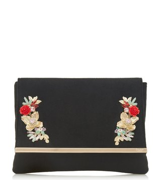 Dune London Black Boraa Clutch