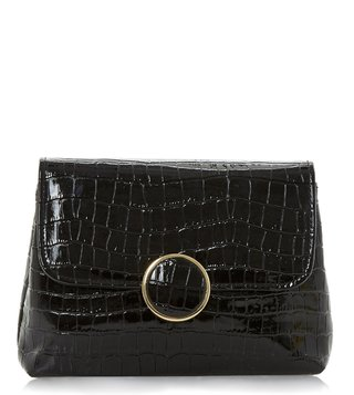 Dune London Black Bayer Clutch