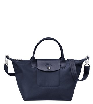 Longchamp Essential Spring Le Pliage Neo Navy Small Satchel