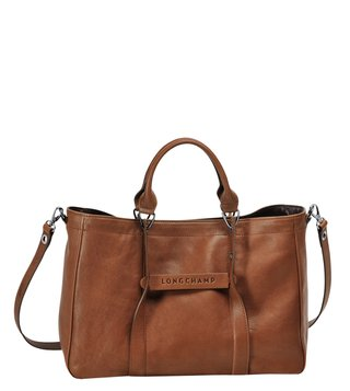Longchamp 3D Cognac Medium Satchel
