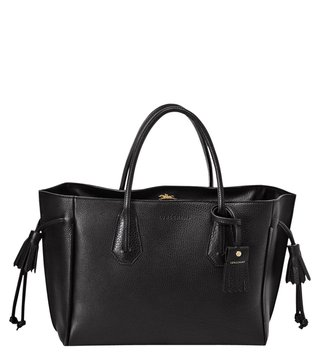 Longchamp Penelope Black Medium Satchel