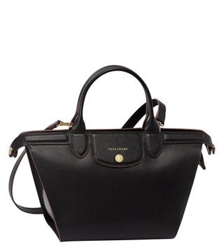Longchamp Le Pliage Heritage Black Medium Satchel
