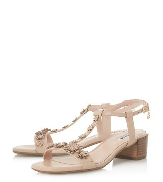 Dune London Blush Iyris T-Strap Sandals