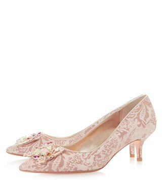Dune London Rose Gold Metallic Beaumonte Pumps