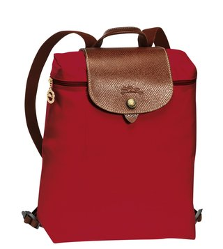 Longchamp Essential Le Pliage Red Small Backpack