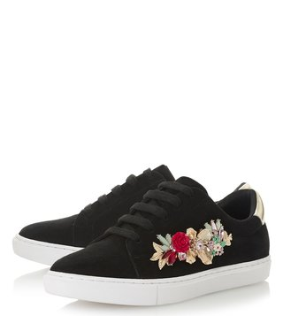 Dune London Black Suede Elvaro Sneakers