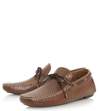 Dune London Tan Boyde Loafers