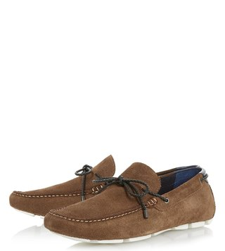 Dune London Tan Suede Bluewater Loafers