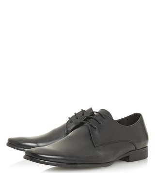 Dune London Black Petrov Derby Shoes