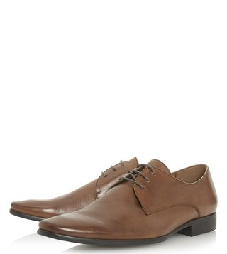 Dune London Tan Petrov Derby Shoes