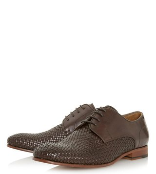 Dune London Brown Pueblo Derby Shoes