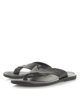 Dune London Black Idle Thong Sandals