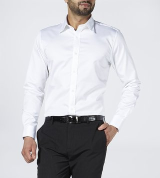 Bombay Shirt Company White Oxford Regular Fit Shirt