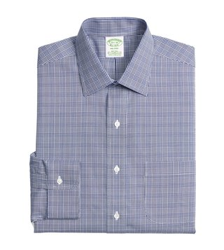 Brooks Brothers Blue Non-Iron Glen Plaid Shirt