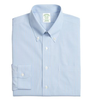 Brooks Brothers Light - Pastel Blue Non-Iron Sidewheeler Shirt