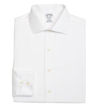 Brooks Brothers White Non-Iron Parquet Shirt