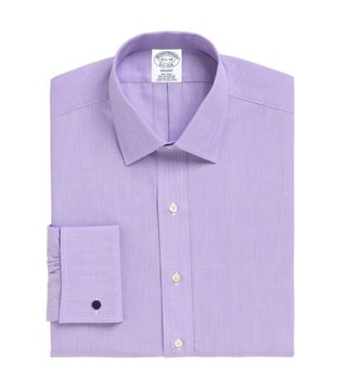 Brooks Brothers Purple Non-Iron French Cuff Shirt