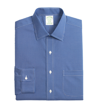 Brooks Brothers Blue Non-Iron Ground Plaid Shirt